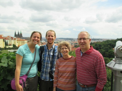.... before meeting up with Eric's parents in Prague!