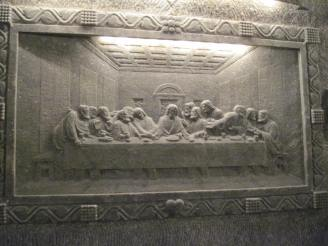The Last Supper... carved in SALT!
