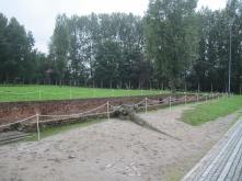 The ruins to the underground entrance of a gas chamber