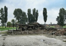 The ruins of a crematorium