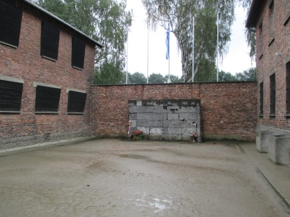 The courtyard, where firing squad executions took place