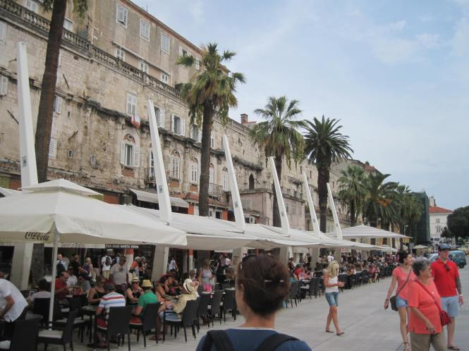 Diocletian's Palace is in the background, with all the modern development now surrounding it