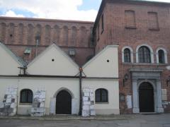 The first synagogue. Early synagogues were not allowed to be ornamented as the christian majority worried that beautiful synagogues would entice people to convert.