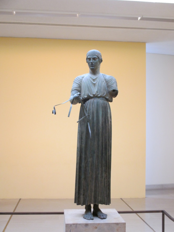 The famous Bronze Charioteer