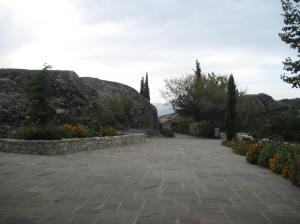 A nice garden outside the monastery