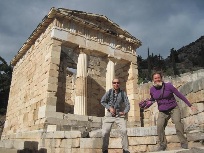 Failed jelfie in front of the Athenian Treasury