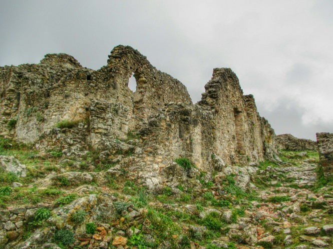 The ruins of the castle of Mystras