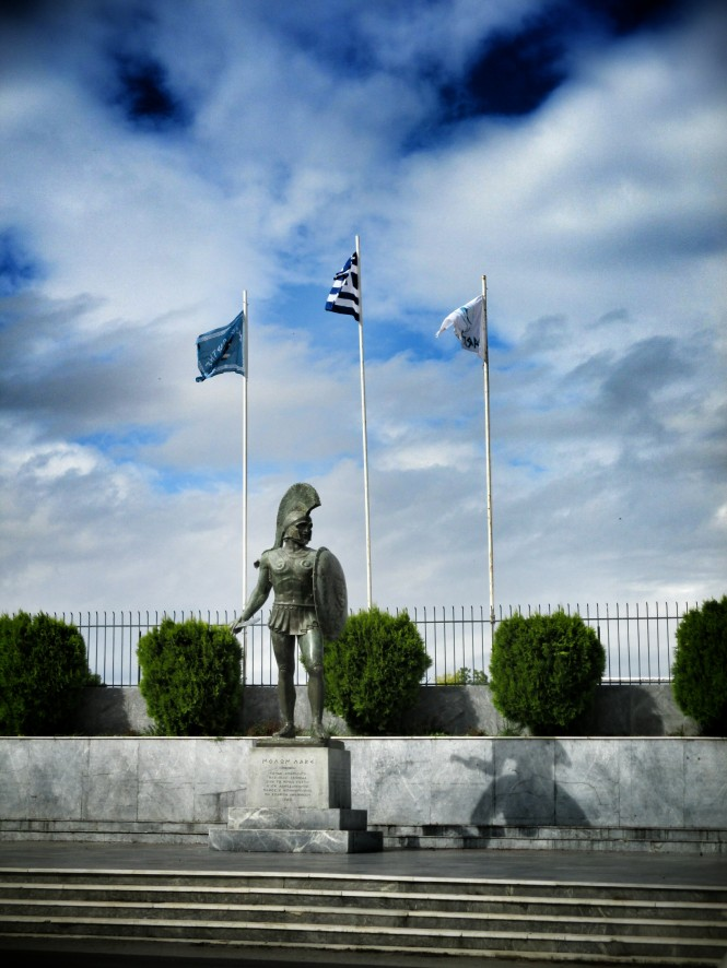 A statue for King Leonidas (main character in 300)