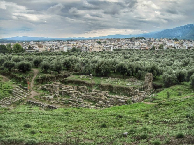 This is Sparta! No, really, this is actually the historical site of Sparta. And the modern town of Sparta beyond.