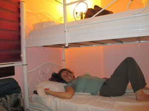 Our bunk beds in the dorm room we had to ourselves