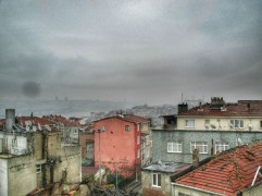 Overcast Istanbul from the city walls
