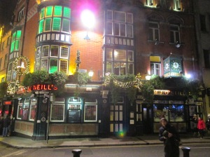 The outside of O'Neill's, taken on the Literary Pub Crawl