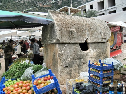 Ancient tomb in the middle of the market
