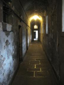 A hallway of the prison