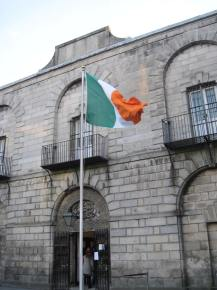 Irish flag outside the jail