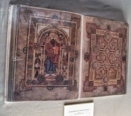 The Book of Kells - we couldn't take pictures of the real one. This was a replica in the Long Room