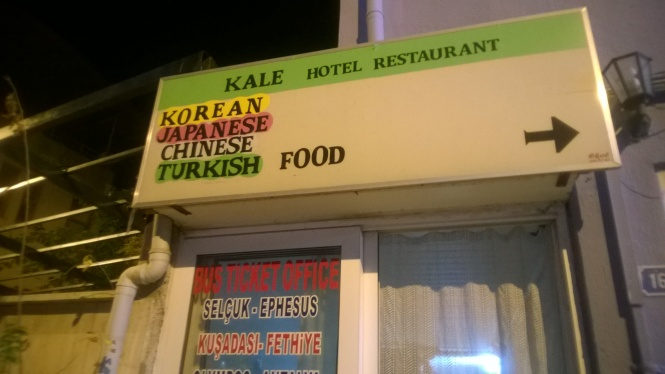 The Korean/Japanese/Chinese/Turkish restaurant