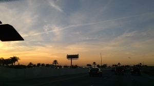 We had a nice sunset when headed up to Houston