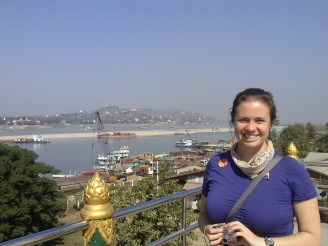 Sagaing Hill across the river
