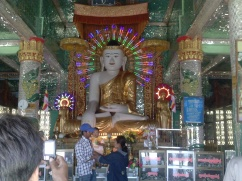 Mandalay, Myanmar: Our first encounter with a Buddha with LED illumination. Definitely not the last...