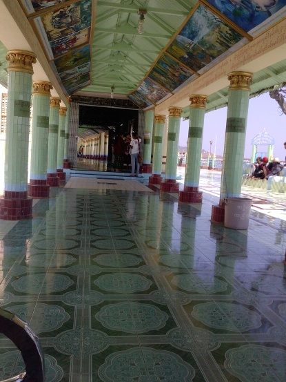 The floor in the temple