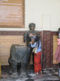 Bronze statues from Angkor Wat
