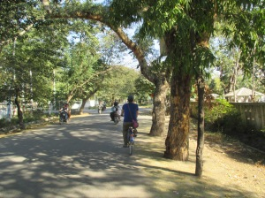 This was one of the quieter streets we rode on. Otherwise we couldn't have taken this picture!