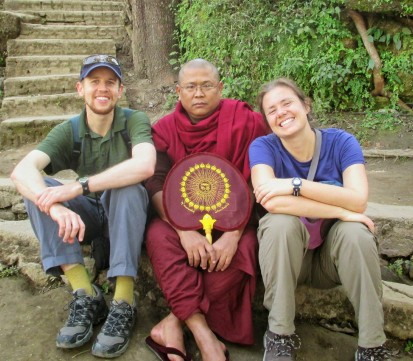 This monk wanted to have his picture taken with us!