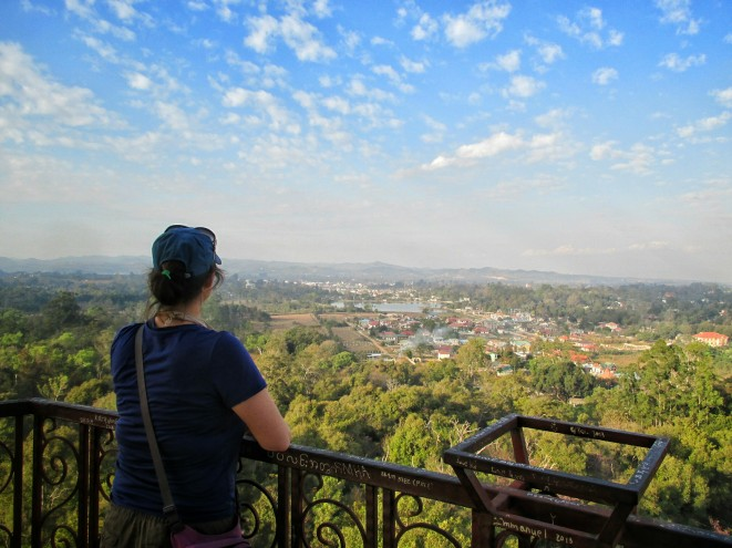 Pyin Oo Lwin gardens from the top of the tower