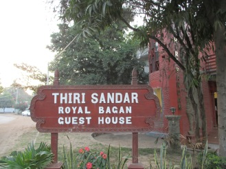 """This is the sign you see outside the """"At Bagan"""" hostel"""