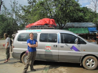The minibus which turned out to be our transportation all the way to Inle