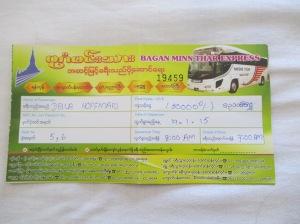 To us, this bus ticket implies that we will be riding on a real bus...