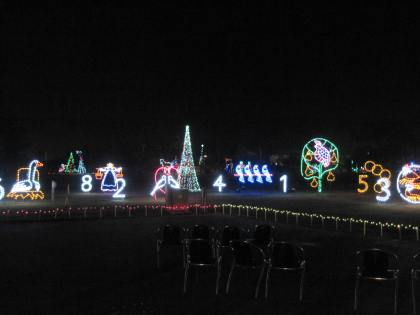 This display was synchronized to the audio of a Christmas song. Can you guess which one?