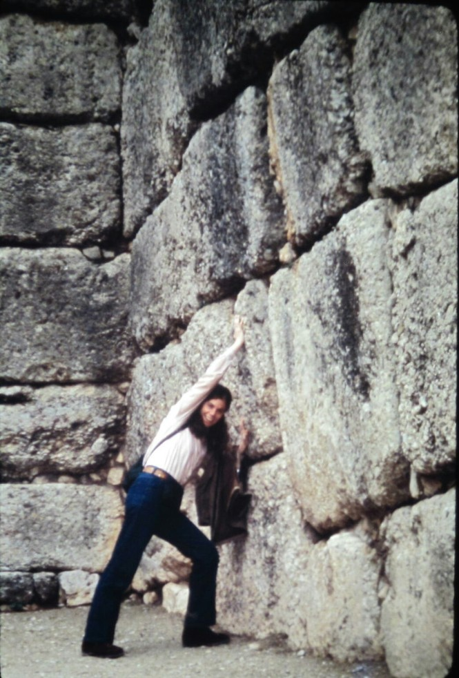 Peg holding up the wall in Mycenae