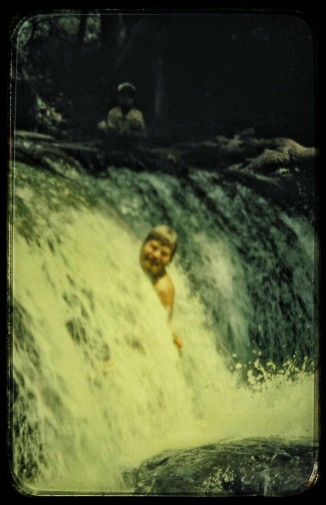 We believe that this is Wayne in the same falls we saw!