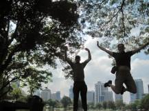 Lumphini Park jelfie