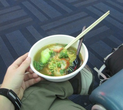 Noodles in the Bangkok Airport