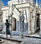 Repainting the white stupas