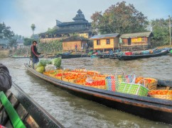 Transporting produce up the canal