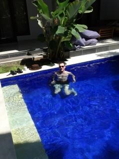 Izaak in the pool