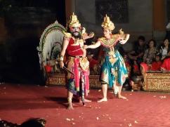 Dancers dancing the Ramayana
