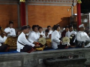 Ketut performing in the Gamelan