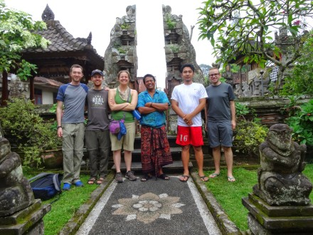 Our wonderful hosts. Ketut is in the middle