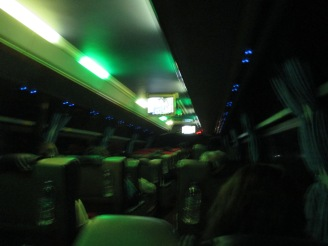 The only picture we got of the interior of the bus