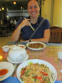 Expensive fried rice at the Malaysian place