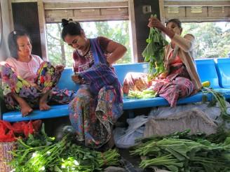 Preparing their produce