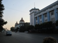 The Yangon Region Court and an old bank building