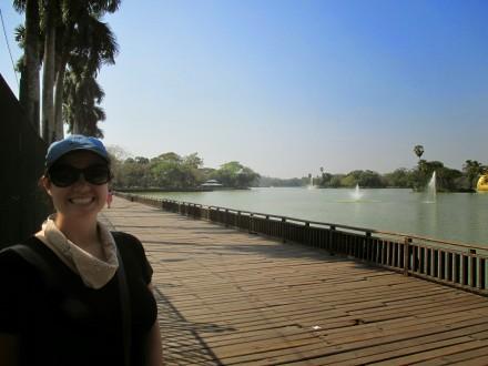 The boardwalk along Kandawgyi Lake