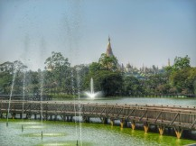 Shwedagon Paya in the distance
