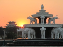 Sunset over the park and our time in Myanmar
